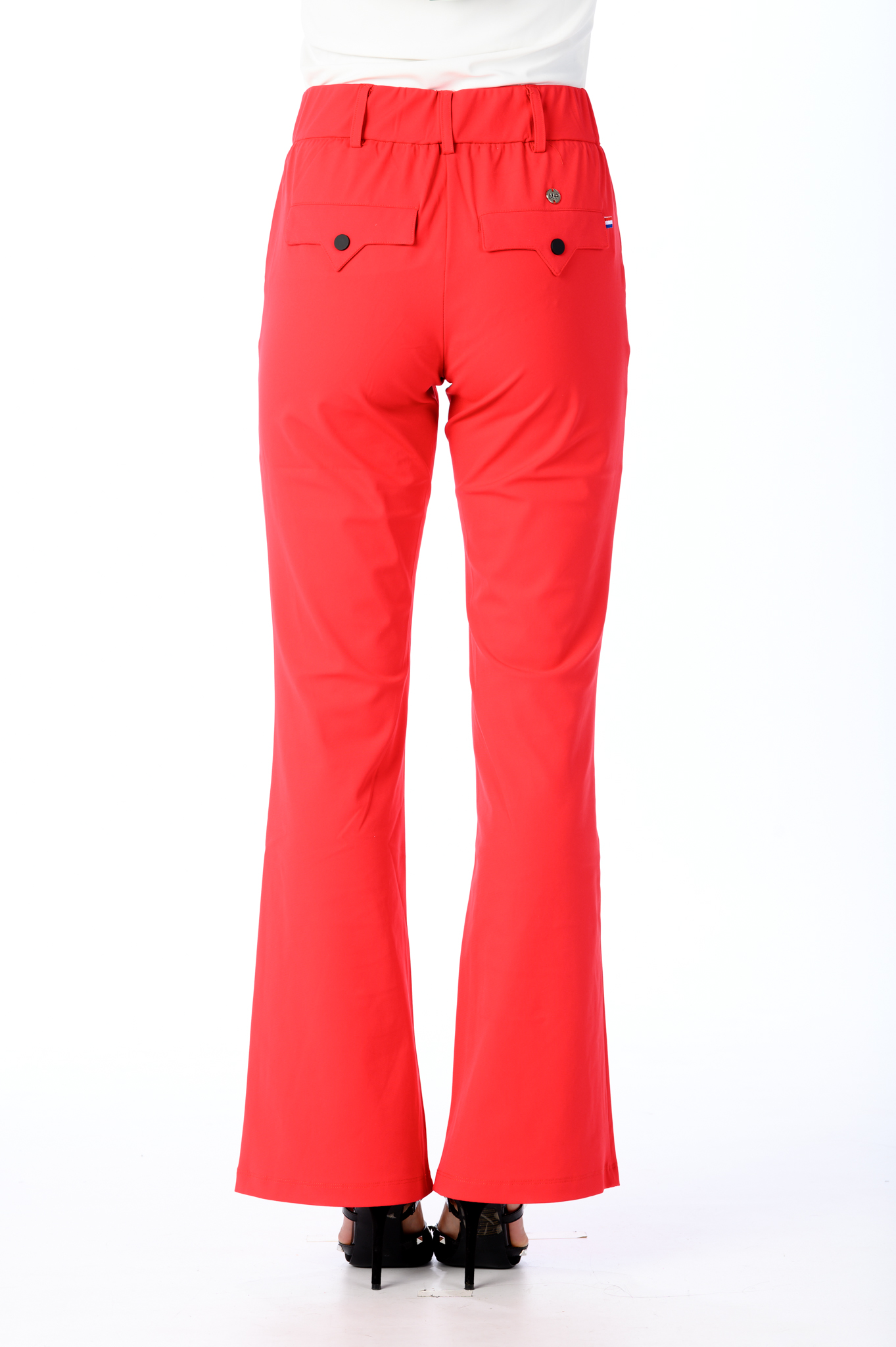 Travelstof broek My Pashion Rood