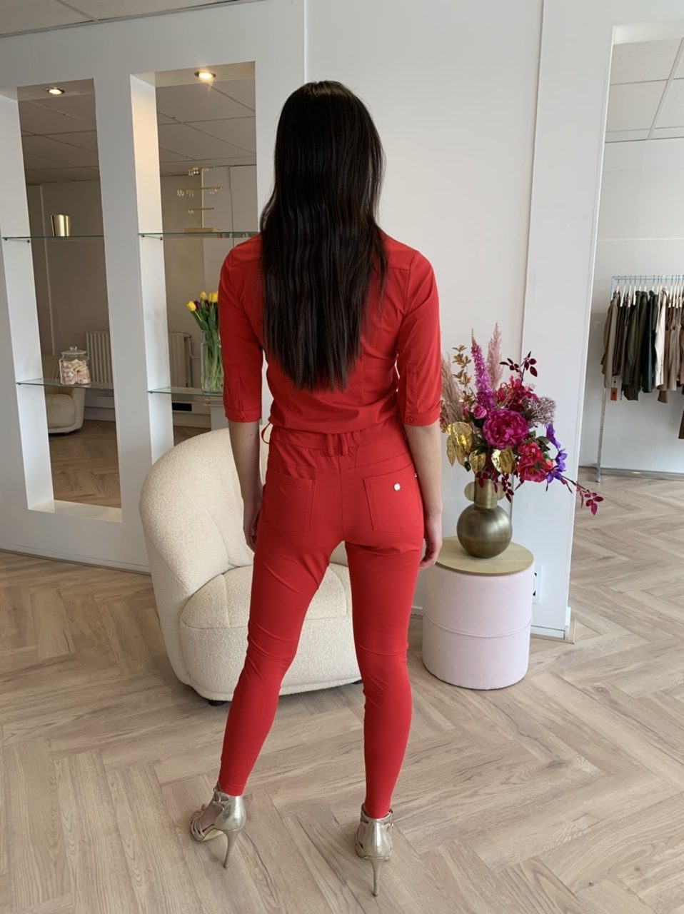 My Pashion Y-Conic Travelstof Kleding Jumpsuit Red