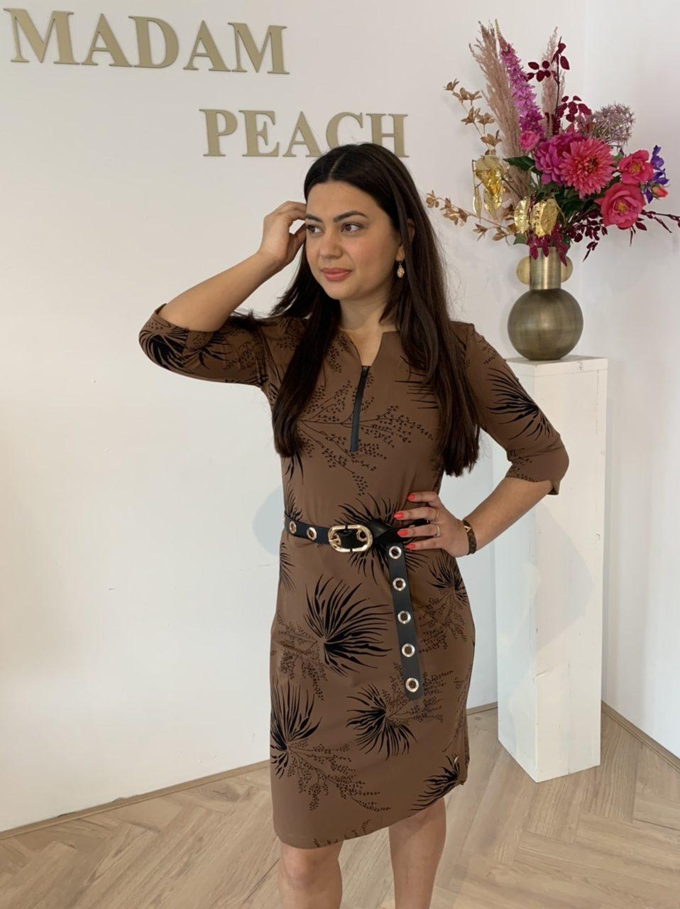 My Pashion - Travelstof Dexmy Dress - Tobacco