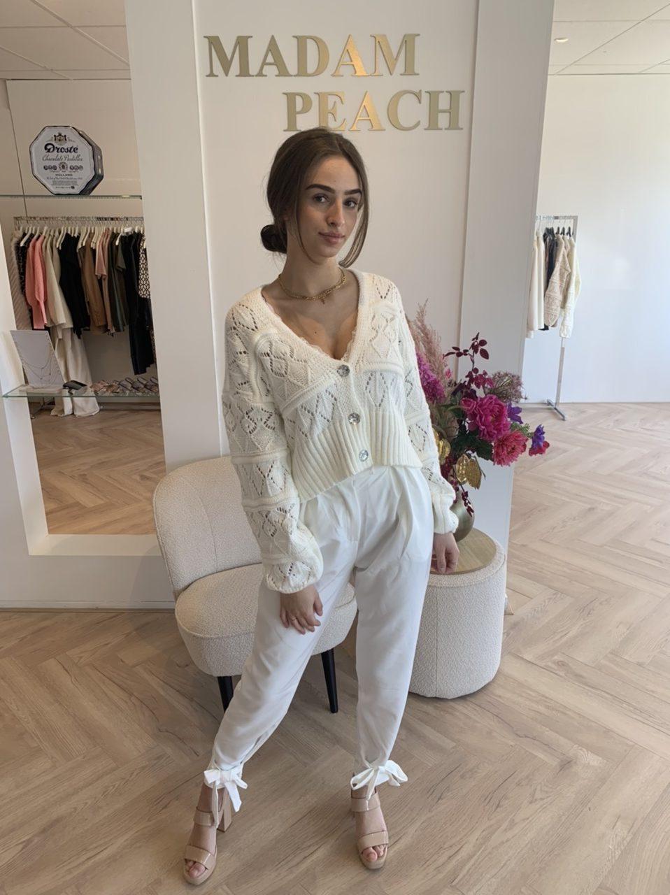 Madam Peach - Mila Knit - White