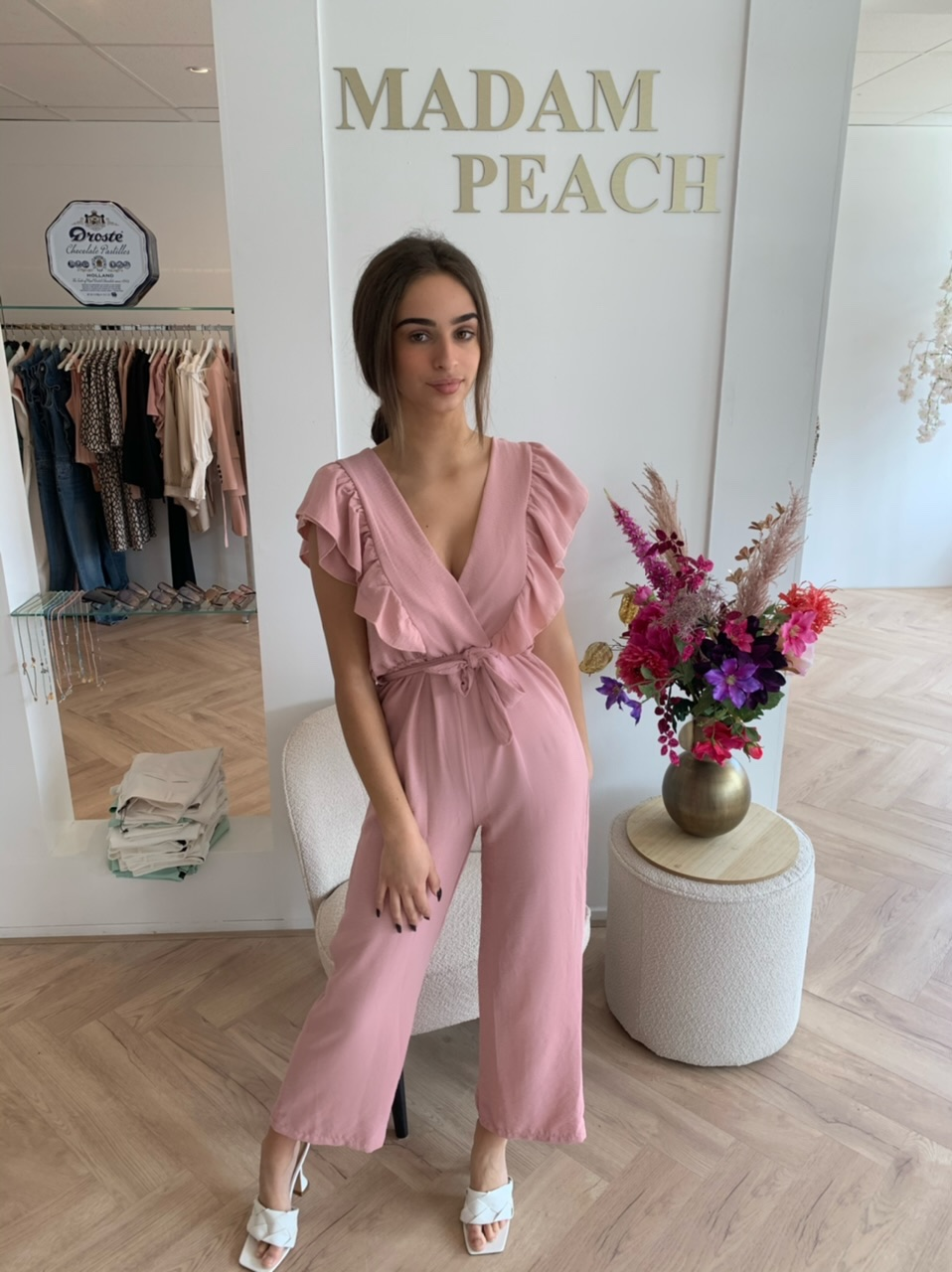 miss beauty Madam Peach Roze Jumpsuit