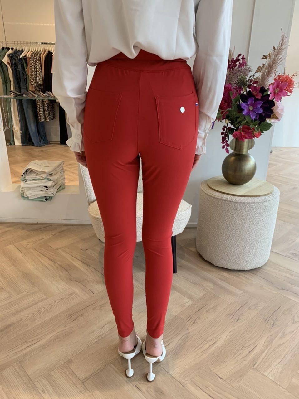 My Pashion Trais Trouser Red Travelstof Broek