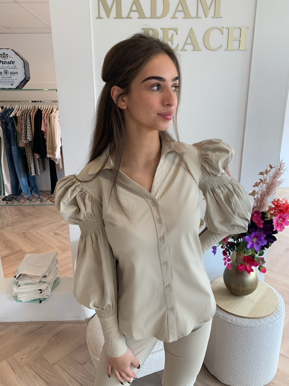 Y-Conic - Blouse Wit Balloon Sleeve