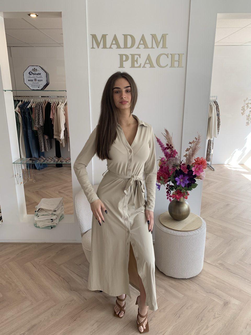 Y-Conic Maxi Dress Travelstof Jurk Sand