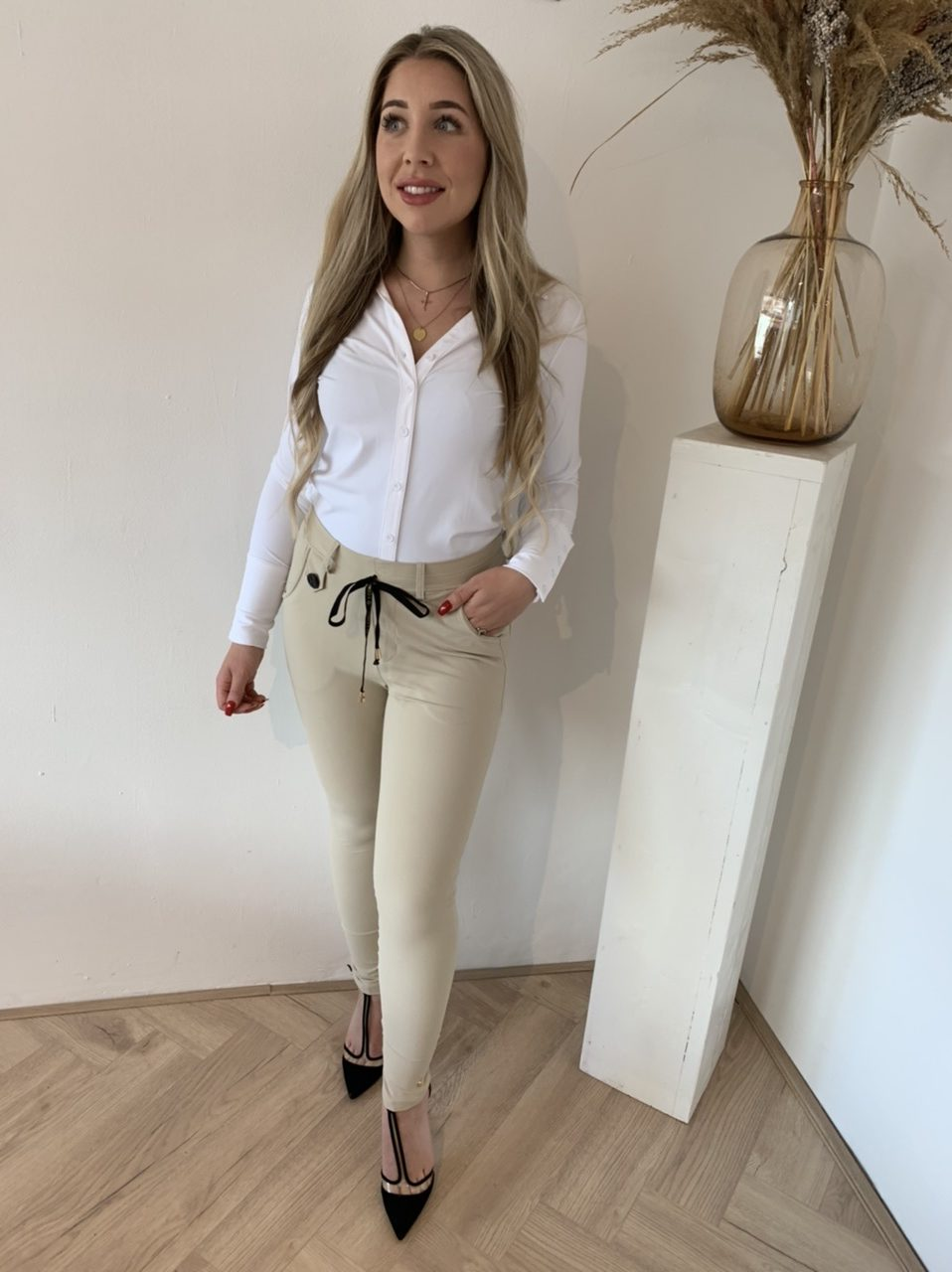 Y-Conic Chino Broek Sand Easy-Move