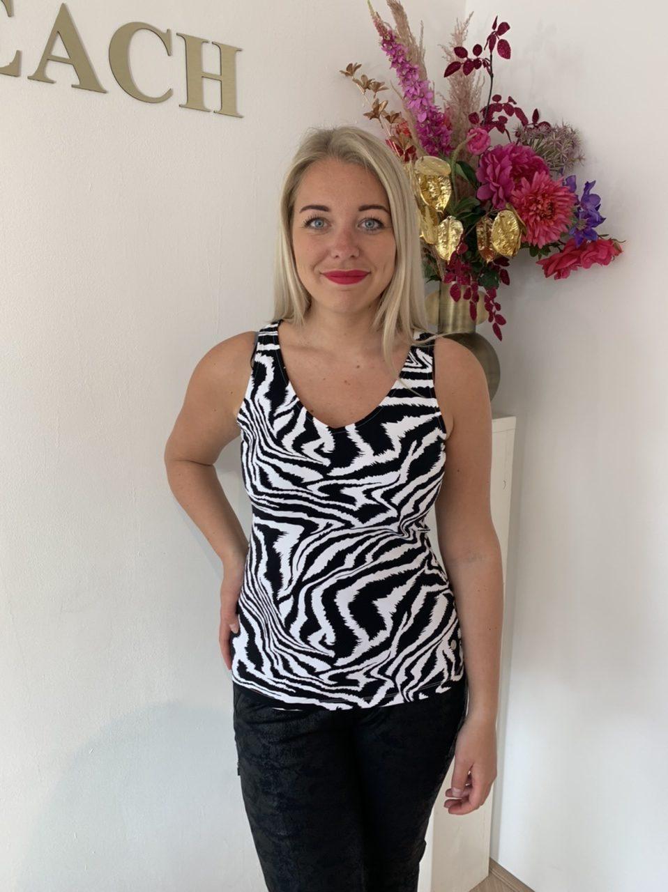 My Pashion Top Zebra Travelstof Kleding